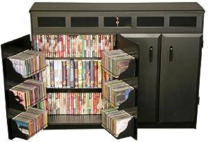 Venture Horizon 2362-21BL Load Media Cabinet Multimedia Storage