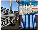 Privacy Screen Fence Mesh Windscreen Backyard Deck Patio Balcony 36'' X 198'' Blue&white Stripe