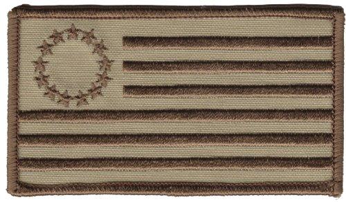 Velcro 13 Star Flag Betsy Ross Flag Patch Desert Tan Multicam Tactical Acu Bdu Tea Party