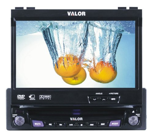 Valor Multimedia SD-900W Single Din AM/FM/CD/DVD with 7-Inch Monitor