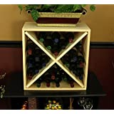 Wine Racks America® Kitchen Rack in Ponderosa Pine. Cube Style Wine Rack with 13 Gorgeous Stains to Choose From! Capacity: 24 Bottles