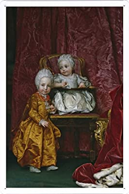 Tin Sign Metal Plate Poster of oil painting Mengs, Anton Rafael - Los archiduques Fernando y Maria Ana de Austria, 1770 20*30cm by PBN