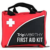 Compact First Aid Medical Kit - Home, Sport, Work, Office, Camping, Hiking, Boat, Survival, Traveling and Car - Small and Lightweight First Aid Bag