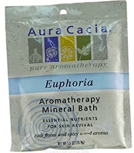 Aura Cacia Mineral Bath Euphoria 2.5 oz ( Value Bulk Multi-pack)