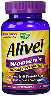 Alive! Women's Gummy Vitamins by Nature's Way - 75 gummies