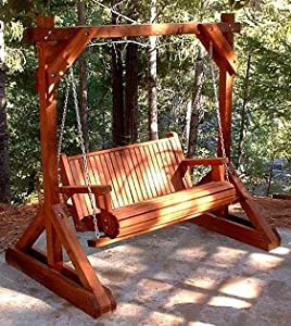 Forever 4 Foot Old Redwood Porch Swing