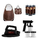 Maxi-Mist Lite Sunless Spray Tanning KIT Tent Machine Airbrush Tan Maximist BRWN
