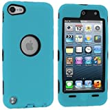 Baby Blue Deluxe Hybrid Premium Rugged Hard Soft Case Skin Cover for Apple iPod Touch 5th Generation 5G 5