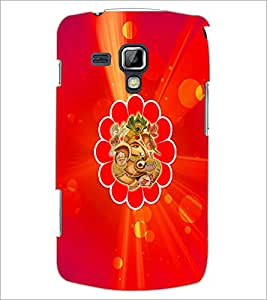 PrintDhaba Lord Ganesha D-3334 Back Case Cover for SAMSUNG GALAXY S DUOS S7562 (Multi-Coloured)