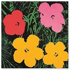 ポスター アンディ ウォーホル フラワーズ 1970 (red、 yellow、 orange on blue)