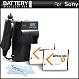 2 Pack Battery and Charger Kit for Sony NP-BN1 Cyber-shot DSC-QX100 DSC-QX10 DSC-T99 DSC-T110 DSC-TX5 DSC-TX7 DSC-TX9 DSC-TX10 DSC-W330 DSC-W350 DSC-W360 DSC-W380 DSC-W390 DSC-W510 DSC-W515PS DSC-W520 DSC-W530 DSC-W550 DSC-W690