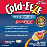 Cold-Eeze Cold Remedy, Sugar Free, Lozenges, Natural Honey Lemon Flavor, 18 ct.