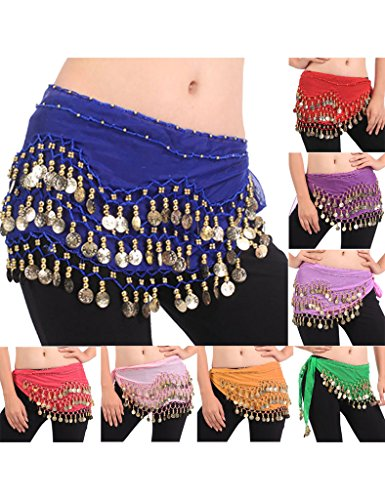 Zacoo Women's Belly Dance Scarf Costumes Hip Wrap