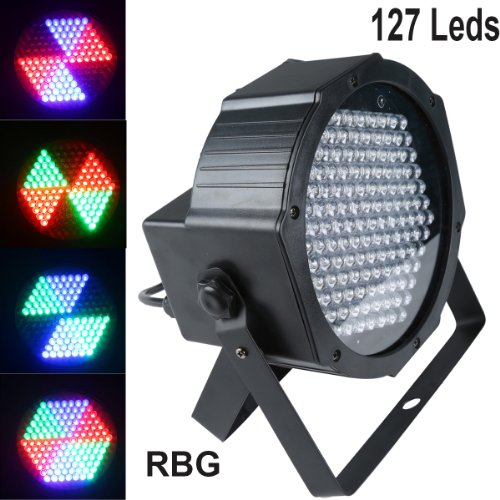 7Ch Sound Active Dmx-512 Laser Stage Light 127 Led For Bar Disco Dj Party Lamp