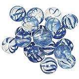GemStones Decorative Aquarium Stones, Clear with Blue Swirls 30/bag