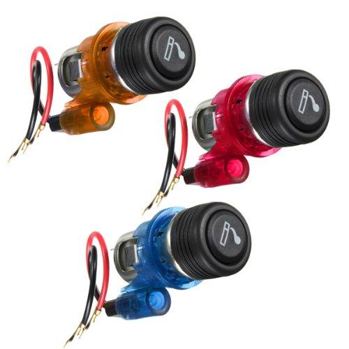 12V 120W Car Motorcycle Cigarette Lighter Power Socket Plug Outlet,Orange