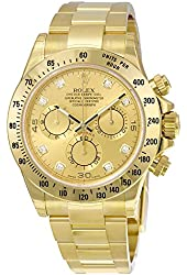 Rolex Daytona Champagne Chronograph 18kt Yellow Gold Mens Watch116528CDO