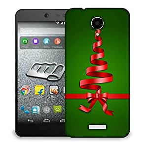 Snoogg Red Ribbons Designer Protective Back Case Cover For MICROMAX Q416