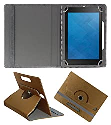 Acm Designer Rotating 360° Leather Flip Case For Dell Venue 8 3840 Tablet Stand Premium Cover Golden