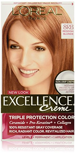 L'Oreal Paris discount duty free L'Oreal Paris Excellence Creme Hair Color, Medium Reddish Blonde 8RB (Packaging may vary)