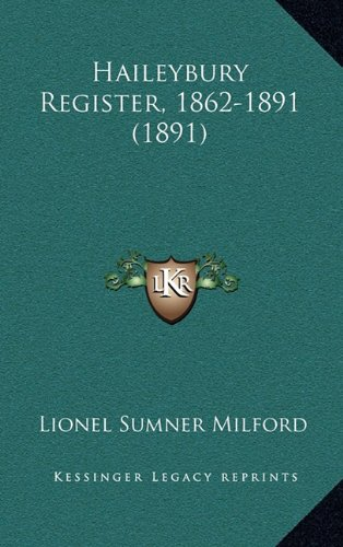 Haileybury Register, 1862-1891 (1891)