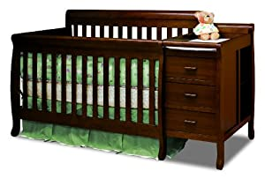 Athena Kimberly 3 in 1 Crib and Changer with Toddler Rail, Espresso from Athena