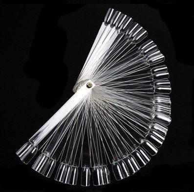 Iebeauty®Wholesale 50pcs Nail Art Display Fan Wheel Polish False Sticks Practice Nail Tip Salon (transparent 2 sets) (Nail Art Supplies Wholesale compare prices)