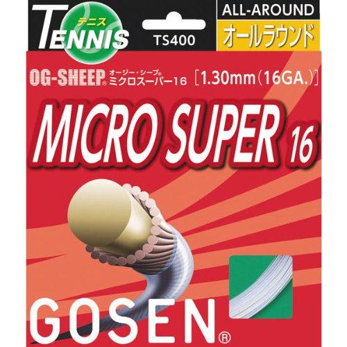 GOSEN(ゴーセン) OG-SHEEP ミクロスーパー16 TS400 (10)ホワイト