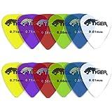 Tiger Music Gels Guitar Plectrums Pick (Pack of 12)
