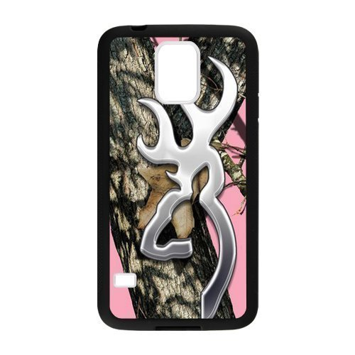 Hoomin Pink Realtree Camo Browning Cutter Samsung Galaxy S5 Cell Phone Cases Cover Popular GiftsLaster Technology