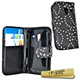 Accessory Master Leather Case for Samsung Galaxy Ace 2 i8160 Black with Rhinestones