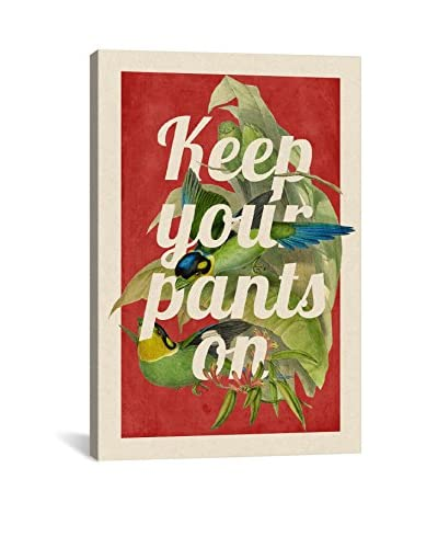 Darklord Keep Your Pants On Gallery Wrapped Canvas Print