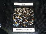 1983 LSU COLLEGE FOOTBALL MEDIA GUIDE EX-MINT BOX 11