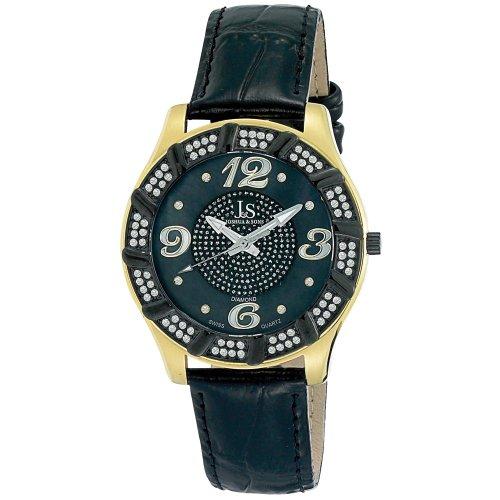 Joshua y Sons para hombre JS-17-YG de cuarzo reloj Swiss de diamante