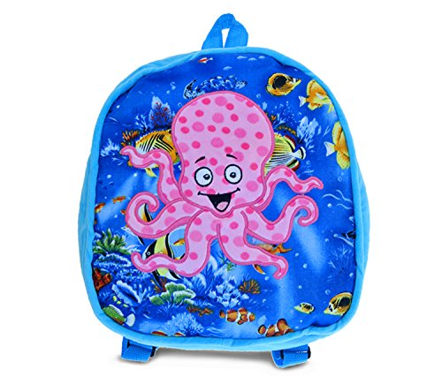 """Puzzled Octopus Kids Backpack, 11"""", Blue"""