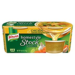 Knorr Homestyle Stock Chicken Concentrated Broth, Chicken 4.66 oz, 4 ct (Pack of 4)