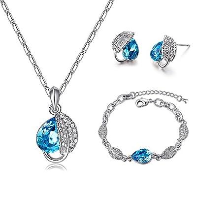 Mondaynoon Swarovski Elements Lovesick Leaf Jewelry Set