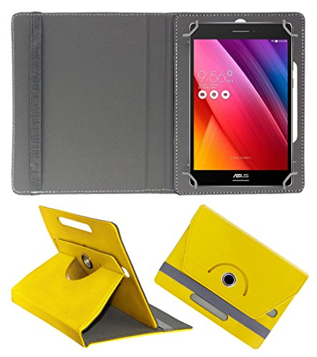Acm Rotating 360° Leather Flip Case For Asus Zenpad 8.0 Tablet Stand Cover Holder Yellow