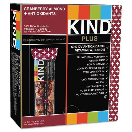 Kind - Plus Nutrition Boost Bar, Cranberry/Almond, 1.4 Oz, 12/Box 17211 (Dmi Bx