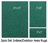 Indoor-outdoor Pine , 3 Piece Set, Patio Rug's (8x10 Area Rug, 3x8 Runner, 2x3 Mat)
