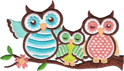 Application Animals 3 Owls Patch