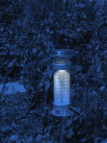 Süd Solar 03842 Stab-Thermometer Lily mit Solarleuchte