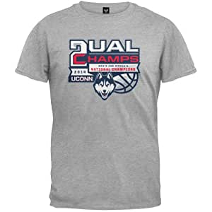 UCONN Huskies 2014 NCAA Official Men's & Women's Dual Champs T-Shirt Basketball