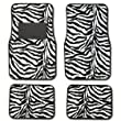 Zebra Animal Print Auto Floor Mat 4 pcs