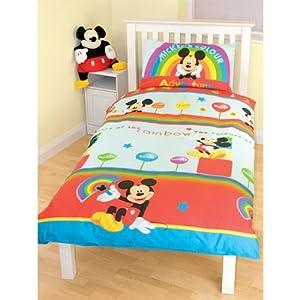 Ensemble de literie Mickey Mouse pour enfant (Lit simple) (Voir l