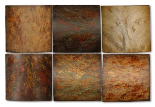 Uttermost 13355 10-Inch by 10-Inch Klum Collage Metal Wall Art, Set of 6