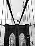 12 X 16 INCH / 30 X 40 CMS BROOKLYN BRIDGE GATES NYC USA NEW YORK FINE ART PRINT POSTER HOME DECOR PICTURE BMP187B