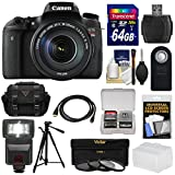 Canon EOS Rebel T6s Wi-Fi Digital SLR Camera & EF-S 18-135mm IS STM Lens with 64GB Card + Case + Tripod + Flash + 3 Filters + Kit
