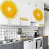 Home Kitchen Dining Wall Sticker Fresh Lemon Juice Wall Decals 1455 Mural Wallpaper^.L 60x60cm