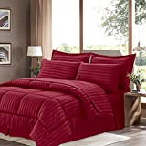 Sweet Home Collection 8 Piece Bed In A Bag With Dobby Stripe Comforter, Sheet Set, Bed Skirt, And Sham Set - King... - B01A1GDIRY